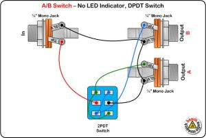 AB Switch Wiring Diagram, No LED, DPDT Switch | DIY