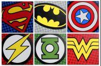 Super Hero Pop Art Choose from 9 different Logo's Hand ...