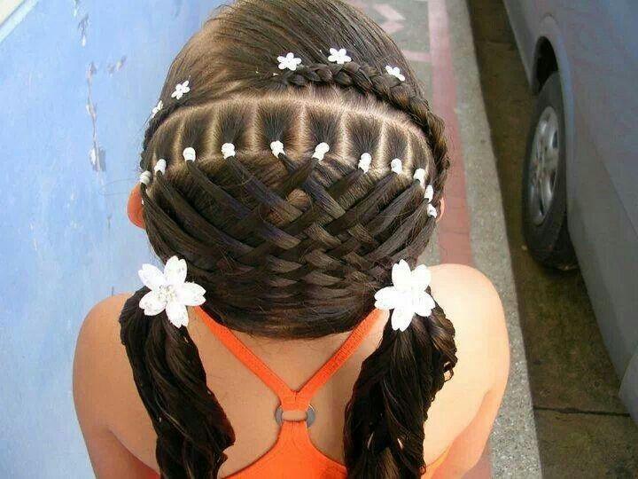 Elaborado peinado para nia  Peinados  Pinterest  My children Awesome and Style