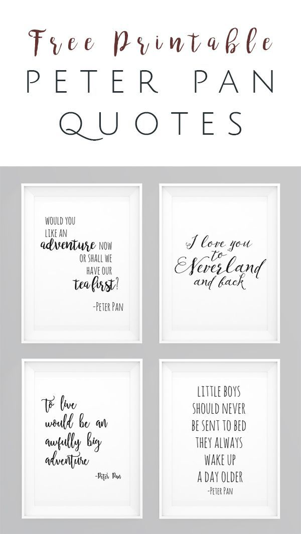 Peter Pan movie quotes FREE Printables