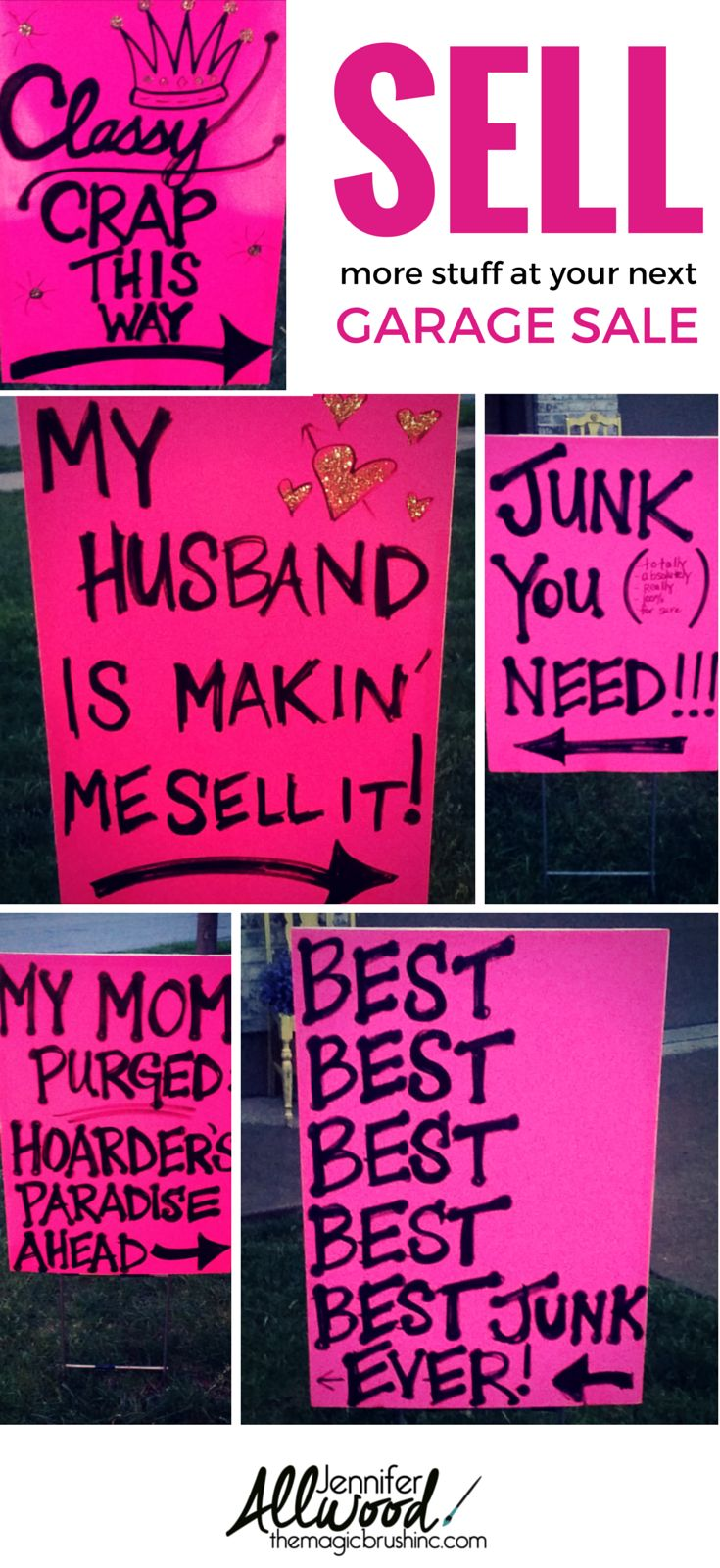 How to advertise for a garage sale with clever signs