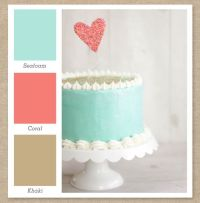 Seafoam Mint Green, Coral Pink, and Tan Color Palette ...