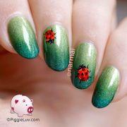 freehand ladybug nail art manicures