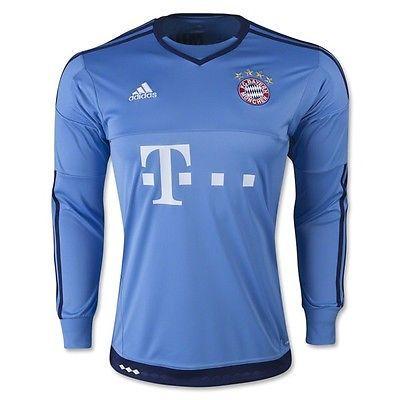 new adidas bayern munich goalkeeper top boys goalie football shirt junior