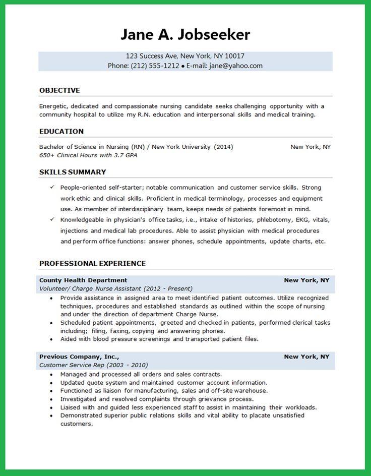Nursing Student Resume  Creative Resume Design Templates Word  Pinterest  Student resume