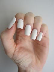 white matte nails perfectly manicured