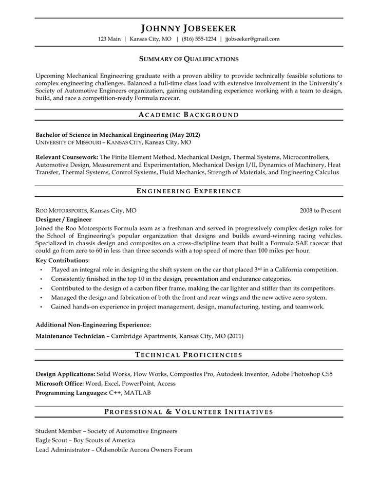 15 Best Images About Sample Resumes On Pinterest