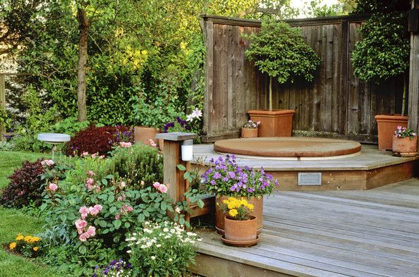 Outdoor Spa Photos Gardens Decks And Zen Design