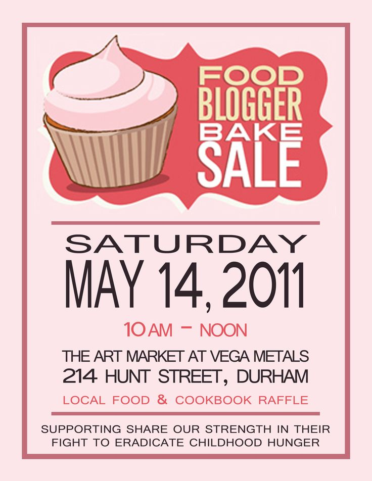 Cute Bake Sale Poster Posters Pinterest Bake Sale