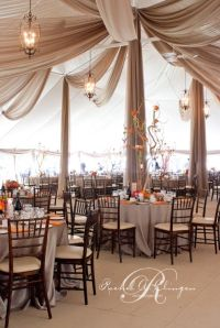 Love this ceiling treatment-Tent Weddings Draping Toronto ...