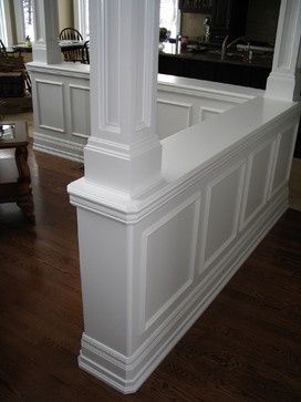Half walls Column design and Columns on Pinterest