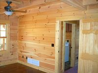 Knotty pine tongue and groove interior
