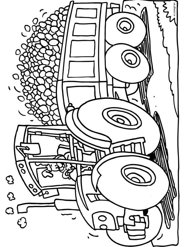 45 best images about Kleurplaten tractor on Pinterest