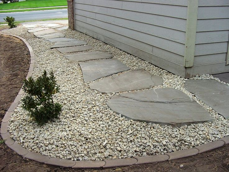 Cover French Drain Path Like This With Gravelrock Set In Big Stepping Stones And Line With