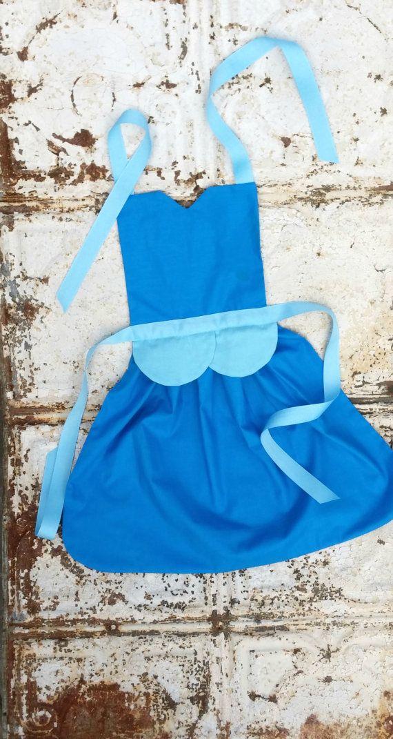 CINDERELLA Disney Princess inspired Child Costume Apron PDF Sewing PATTERN Girls sizes 28