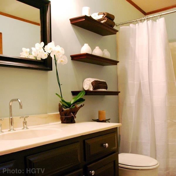 Zen Bathroom Idea Floating Shelves House Ideas