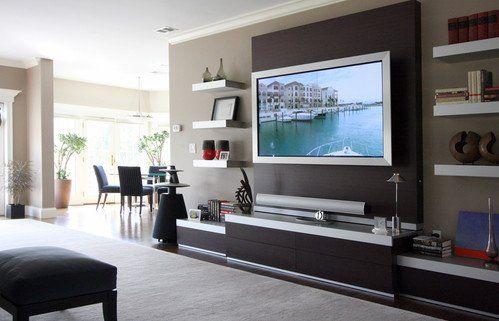 Living Room Tv Wall Ideas 19 Wall Mounted TV Designs