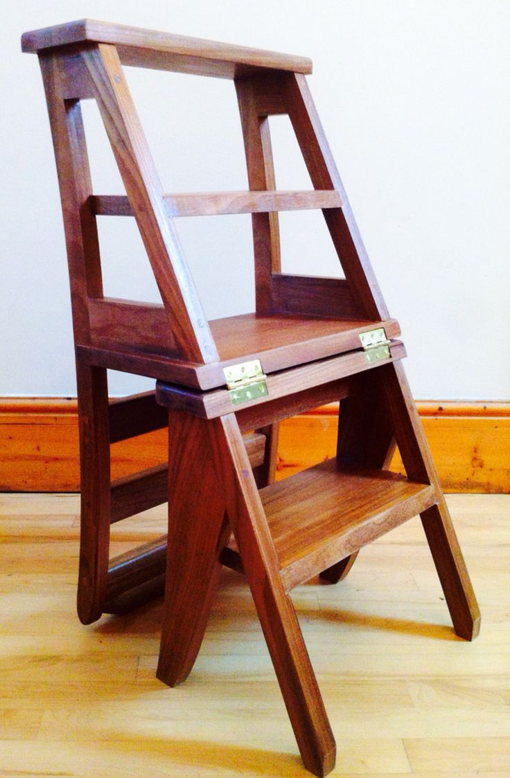 Ben Franklin library chair step ladder mode  rangements