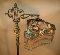 1800s Victorian Beaded Floor Lamp