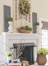 My Spring Fireplace Mantel And Hearth