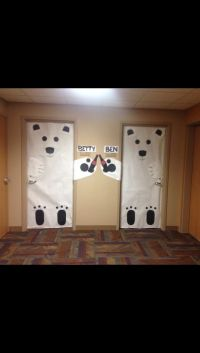 Holiday dorm room door decorations! #polarbears #cocacola ...