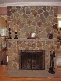 refacing fireplace ideas   idea-fireplace-natural-river ...