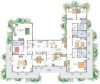 U-shaped House with Courtyard | house plans u shaped with ...