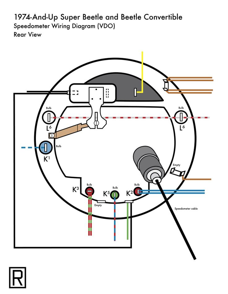 1974 vw bug alternator wiring