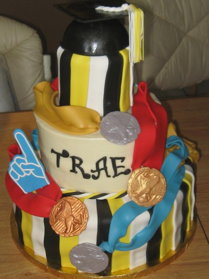 Track And Field Graduate Cake Graduation Ideas