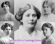 simple hairstyles 1911 - 1915