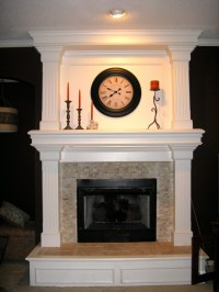 Fireplace surround - travertine mosaic | Home sweet home ...