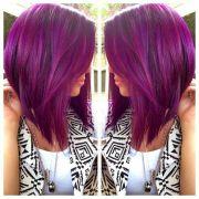 purple bob ideas