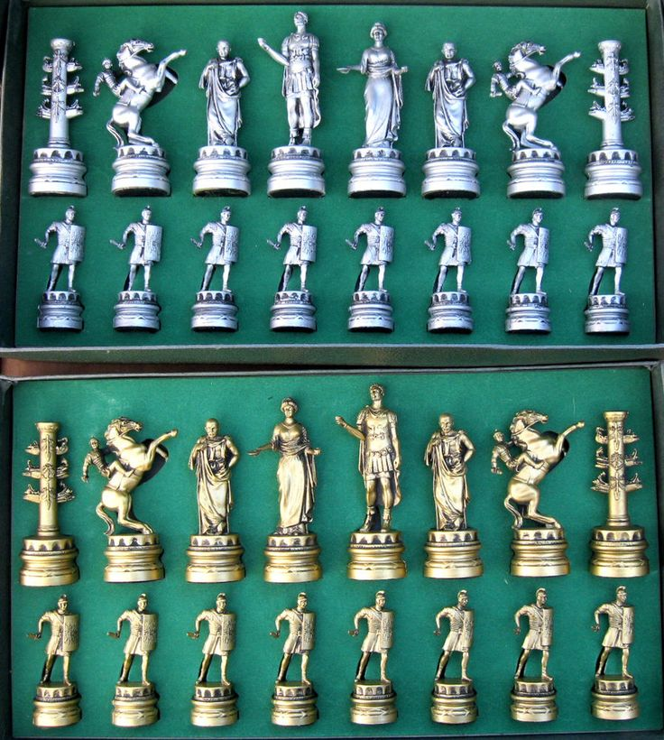 Ancient Rome 264 BC 14 AD Chess Set Classic Games Good