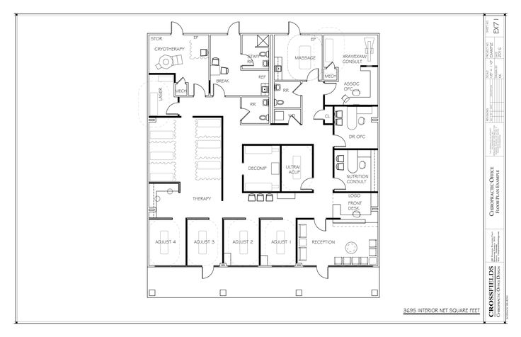 Sample Floor Plan with Cryotherapy and Decompression