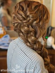 chunky side braid wedding hair