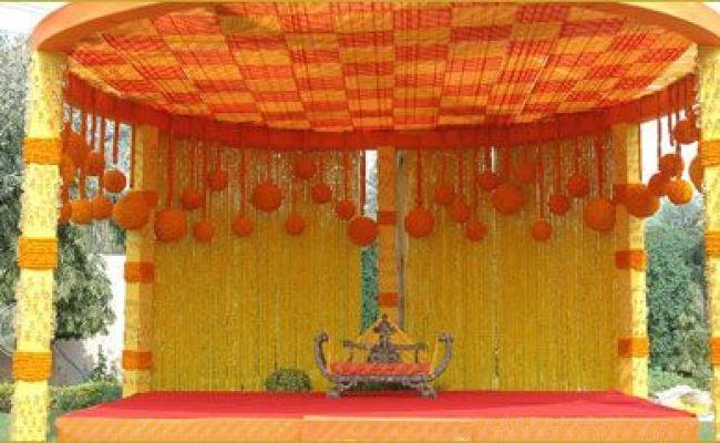 Marigold Mandap Mandap Ideas Pinterest Concrete