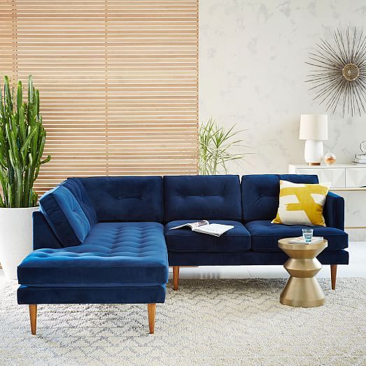 Peggy MidCentury Terminal Chaise Sectional  West Elm