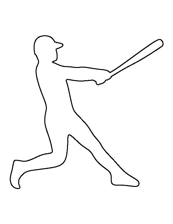 Baseball player pattern. Use the printable outline for