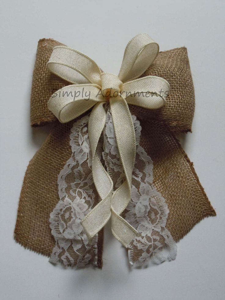1000 ideas about Wedding Chair Bows on Pinterest