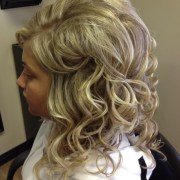 loose curls formal prom style