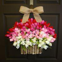 spring wreath summer wreath Easter front door wreaths ...