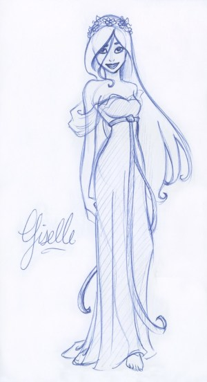 drawing sketches giselle drawings pencil disney sketch kuabci nice draw deviantart cartoon drew character simple hera pen posted pm coloring