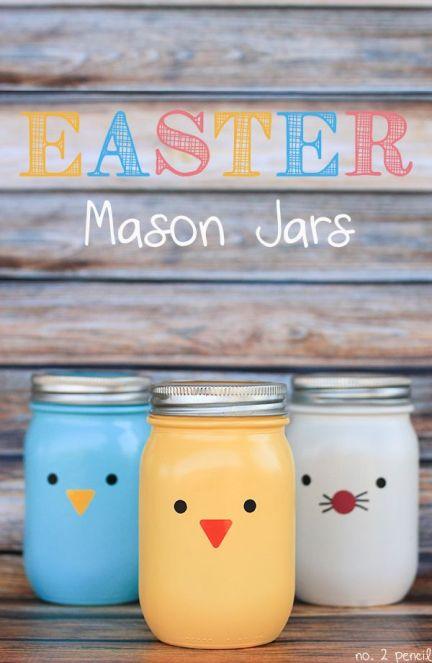 Easter Mason Jars Craft
