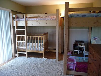 Loft Bunk Bed Over Crib Small Space Solution To Lots Of