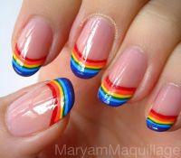 rainbow Nail designs | nails | Pinterest | Spring, Nail ...