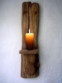 Large Driftwood Candle holder, driftwood candle sconce ...