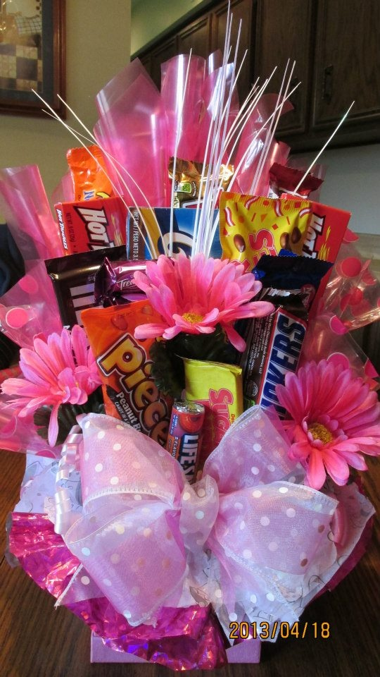 Candy Bar bouquet made by Denise Terry for bridal shower