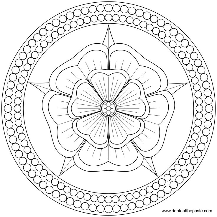 Mandala frame. It is made as a sand-art by monks and when