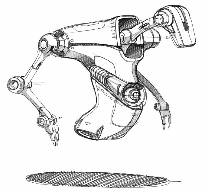 12 best images about Scifi robot sketches on Pinterest