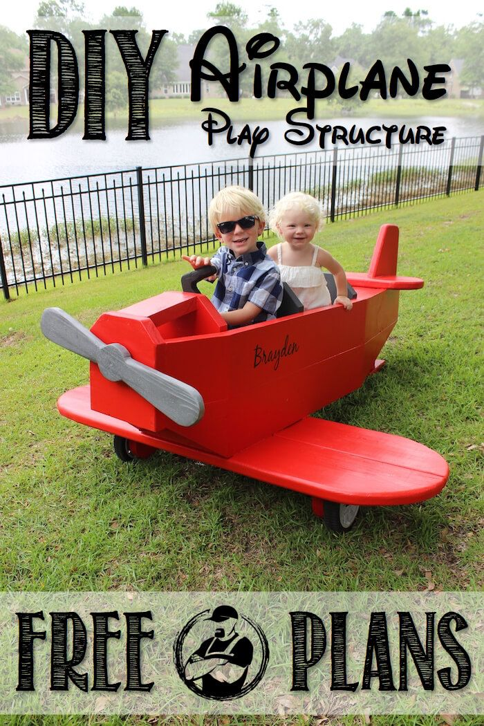 DIY Airplane Play Structure Please!! *LIKE s the Limit with this awesome airplane play structure with these FREE plans! The kids